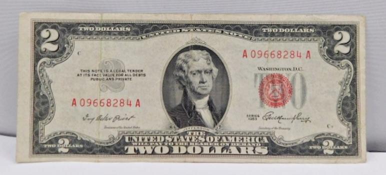 1953 $2 Red Seal U.S. Legal Tender Note