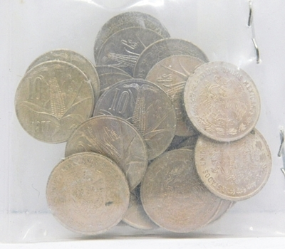 Lot of (25) 1977 Mexico 10 Centavos - Mostly Uncirculated Condition