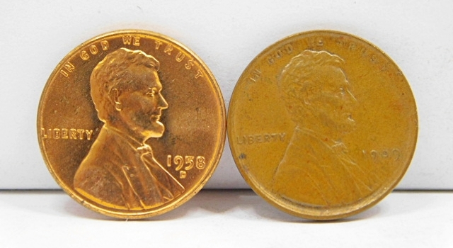 2 Important Collector Coins-Last & First Year Of Lincoln Wheat Cents! Yes! (1) 1909 VDB Lincoln Higher Grade PLUS (1) 1958-D Red Uncirculated These Are Very Nice!!