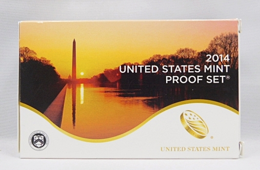 2014 United States Mint Proof Set - Regular Proof Set, Presidential Proof Dollars and Proof National Parks Quarters - In Original Mint Box with COA