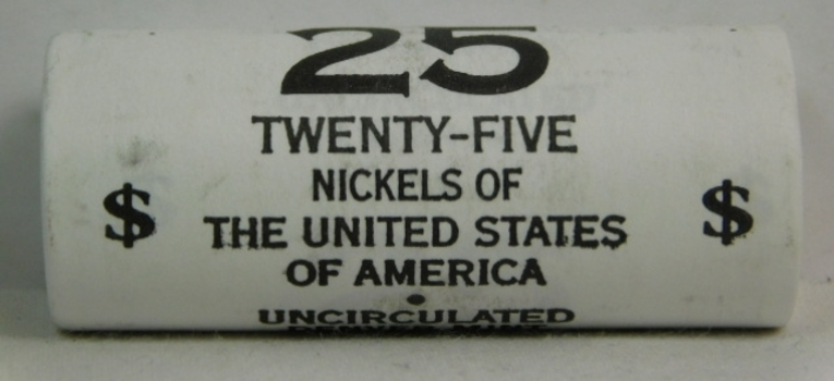 2005 Roll Unopened/Uncirculated Bison Nickels from the Philadelphia Mint - 25 Nickels of the United States of America