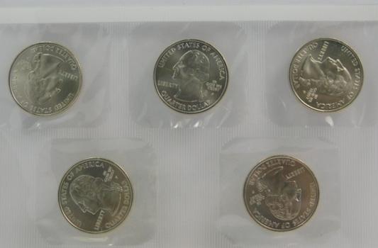 2006-P Uncirculated Satin Finish Commemorative State Quarters - In Original Sealed Mint Cellophane Package - South Dakota, North Dakota, Colorado, Nebraska and Nevada