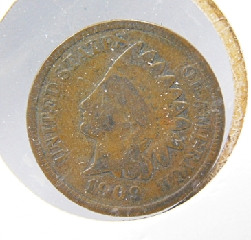 1909 Indian Head Cent-Last Year Of Issue!