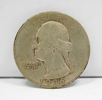 1936-D Silver Semi-Key Date Washington Quarter-Choice Original Condition