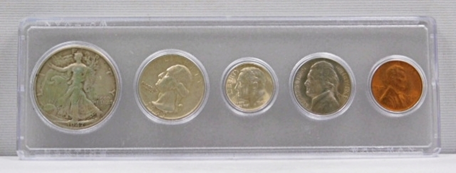 1947 United States Silver Mint Set in Whitman Holder - Excellent Detail on All Coins