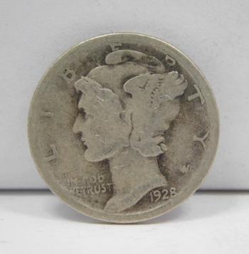 SCARCE DATE - 1928-S Silver Mercury Head Dime