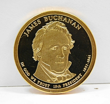 2010-S Proof James Buchanan Commemorative Presidential Dollar ($1) - Excellent Detail and DCAM