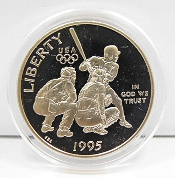 1995 Proof Olympic US Half Dollar-Baseball-Comes In Airtight