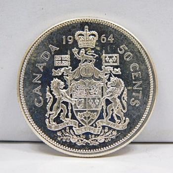 1964 Silver Canadian Half Dollar High Grade Gem Proof-Like