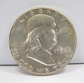 1954 US Silver Franklin Half Dollar-Brilliant Uncirculated