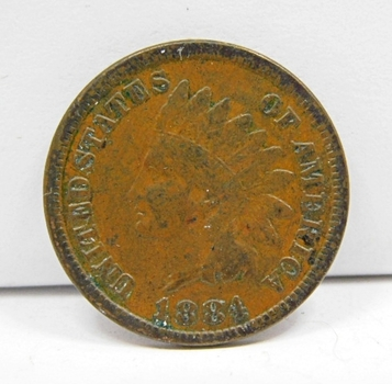 1884 US Indian Head Cent-Tougher Date
