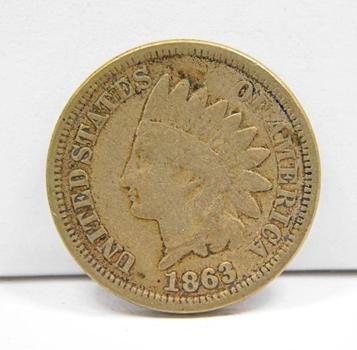 "1863 US Copper Nickel ""Fatty"" Indian Head Penny-Civil War Issue-Higher Grade & Well Struck!"