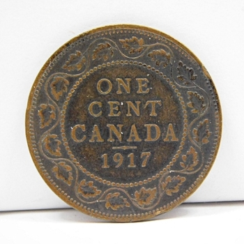 1917 Canadian Large Cent-Well Struck With Solid Detail