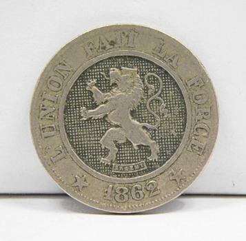 1862 Belgium 10 Centimes
