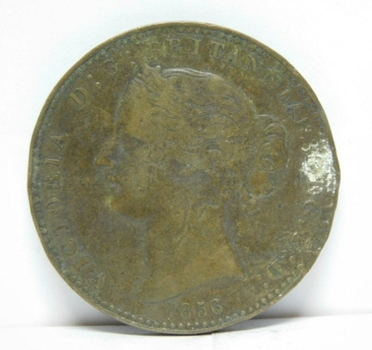 1856 Canada Province of Nova Scotia One Penny Token