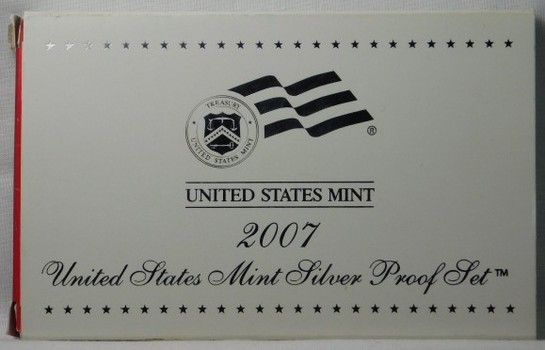 2007 US Mint SILVER Proof Set - Includes State Quarters and Presidential Dollars