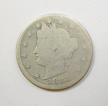 1883 Liberty V Nickel With Cents