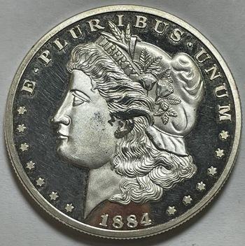 1884-S Morgan Dollar Silver Layered Proof REPLICA