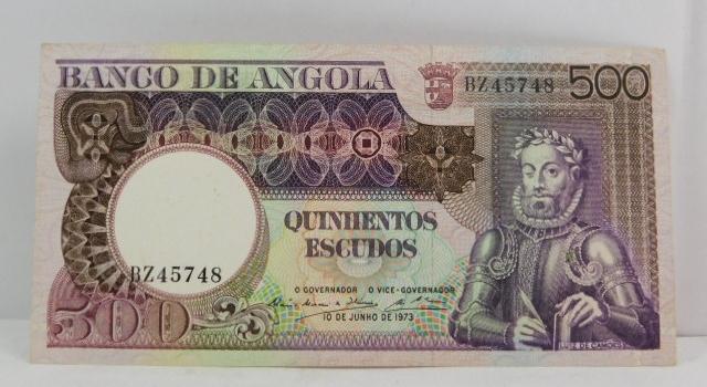 1973 Angola 500 Escudos - High Grade Crisp Bank Note