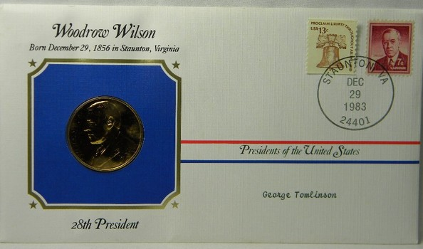 Woodrow Wilson Presidential Commemorative Medal and FDC