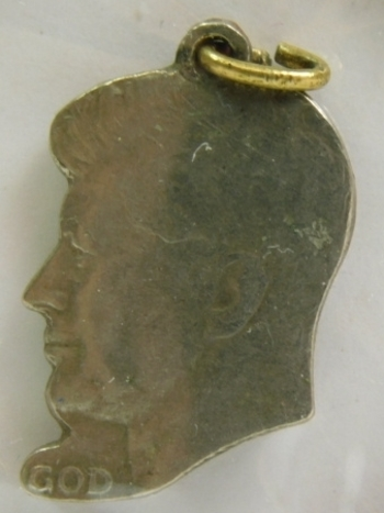 John F. Kennedy Memorial Pendant for Necklace Cutout from Kennedy Half Dollar