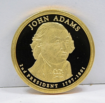 2007-S Proof John Adams Commemorative Presidential Dollar ($1) - Excellent Detail and DCAM