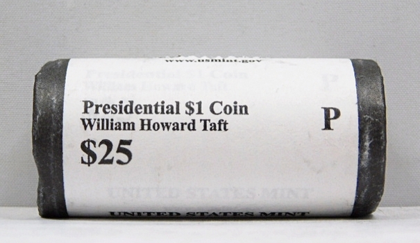 UNOPENED/UNSEARCHED $25 MINT ROLL - 2013-P Presidential $1 Coins - WILLIAM HOWARD TAFT