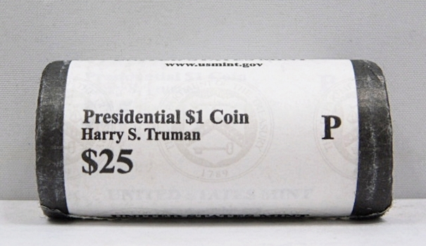 UNOPENED/UNSEARCHED $25 MINT ROLL - 2015-P Presidential $1 Coins - HARRY S. TRUMAN