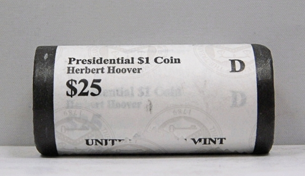 UNOPENED/UNSEARCHED $25 MINT ROLL - 2014-D Presidential $1 Coins - HERBERT HOOVER
