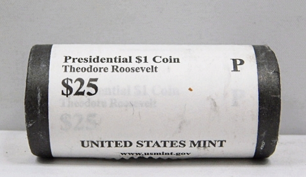 UNOPENED/UNSEARCHED $25 MINT ROLL - 2013-P Presidential $1 Coins - THEODORE ROOSEVELT