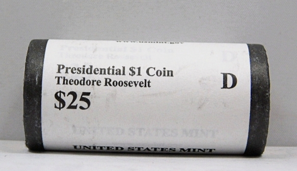 UNOPENED/UNSEARCHED $25 MINT ROLL - 2013-D Presidential $1 Coins - THEODORE ROOSEVELT