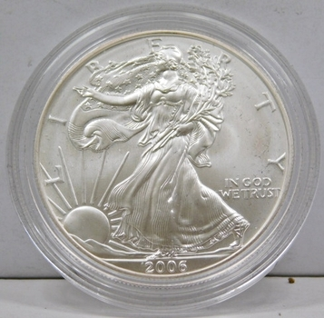 2006-W BURNISHED $1 American Silver Eagle - 20th Anniversary of the Eagle - Brilliant Uncirculated in Original West Point Mint Capsule