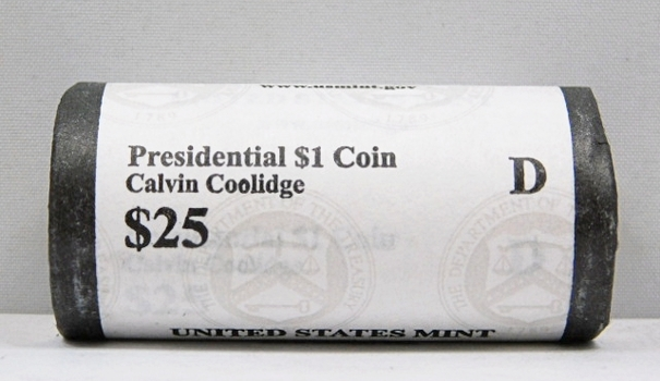 UNOPENED/UNSEARCHED $25 MINT ROLL - 2014-D Presidential $1 Coins - CALVIN COOLIDGE