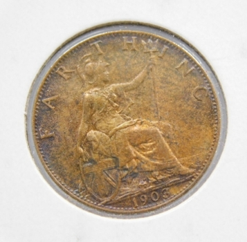 1903 Great Britain Farthing -  Nice Higher Grade