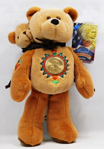 2000-D Sacagawea Dollar Coin Bear w/ Native American Design - New w/Tags