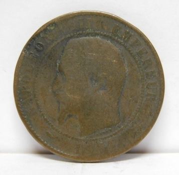 1854 France 10 Centimes - Napoleon III