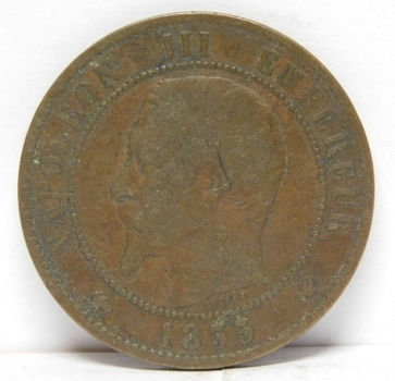 1855 France 10 Centimes - Napoleon III