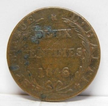 1846 Haiti 2 Centimes