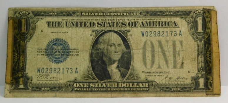 1928A Funny Back $1.00 Silver Certificate