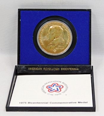 1975 Bicentennial Medal Commemorating the Battles of Lexington and Concord - George Washington