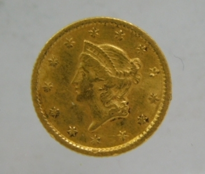 RARE 1853-O New Orleans Minted Type 1 Liberty Head Gold Dollar