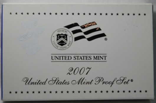 2007 United States Mint Proof Set - Set Includes 2007 Presidential Dollars - Complete with Original Box and COA