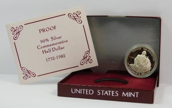 1982-S SILVER PROOF Half Dollar General George Washington Commemorative Original Government Packaging