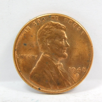 1948-D Lincoln Wheat Cent - Excellent Detail on a High Grade Coin - RB