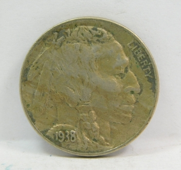 1938 Buffalo Nickel - Nice Detail with Full Horn Visible