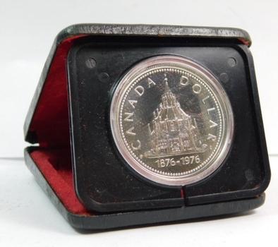 1876/1976 Canada Silver $1 - Parliament Library Building - In Original Mint Case