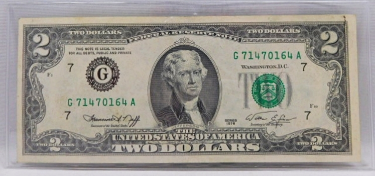 1976 $2 Bicentennial Federal Reserve Note - Chicago, IL - Crisp Paper