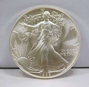 1986 $1 American Silver Eagle 1 oz .999 Fine Silver - Brilliant Uncirculated - First Year of Issue