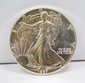 1987 $1 American Silver Eagle 1 oz .999 Fine Silver - Brilliant Uncirculated