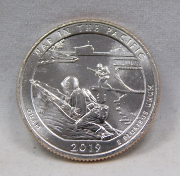 RARE 2019-W War in the Pacific - Guam - West Point Minted Quarter